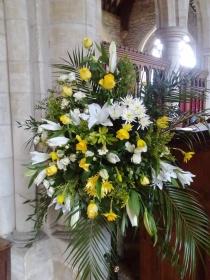 Flowers arranged for Easter