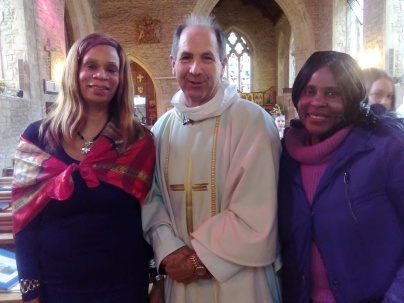Sandy Grey with Rev. Keith Straughan and Charity