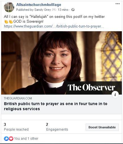 UK Brits turn to prayer - 3rd May 2020